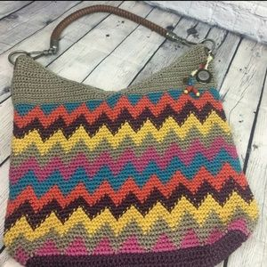 The Sak Shoulder Bag Crochet Knit Multicolor Handb